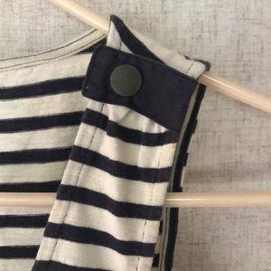 J. Crew Dresses - J. Crew Dress / Beach Coverup black/white stripes